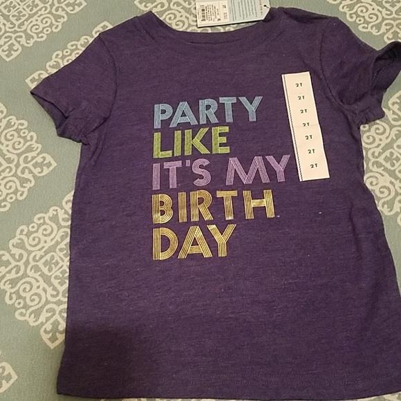 Party Birthday Shirt 2T Toddler Boy Girl Purple
